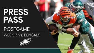 Eagles Players React to Tie vs. Bengals | Eagles Press Pass