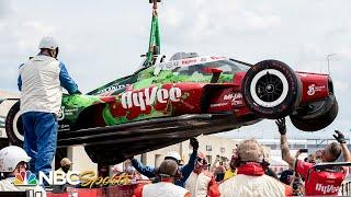 Santino Ferrucci endures hard impact during Day 3 of Indy 500 practice at IMS   Motorsports on NBC