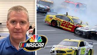 NASCAR America: Analyzing craziness from Talladega Cup playoff race | Motorsports on NBC