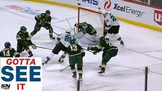 GOTTA SEE IT: Brent Burns Dangles Through All 5 Wild Players Before Roofing Puck