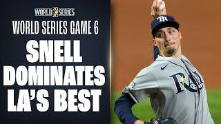 Rays' Blake Snell SITS DOWN Dodgers best in dominant 1st inning of World Series Game 6!