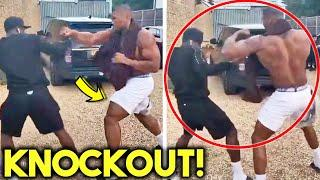 """*LEAKED* AJ JOSHUA SPARRING ON STREETS IN TRAINING CAMP FOR TYSON FURY FIGHT """"WHO IS NEXT?"""""""