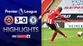 McGoldrick brace keeps European dream alive | Sheff Utd 3-0 Chelsea | Premier League Highlights