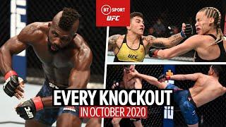 The Best KO in UFC history? All 24 Knockouts in October 2020!