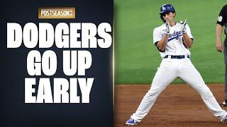 Big 3rd Inning led by Corey Seager's 2-run double puts Dodgers up on Padres in NLDS Game 2!