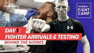 Fight Camp: Week 1, Day 1 - Eggington vs Cheeseman (Behind The Scenes) Arrivals & Testing
