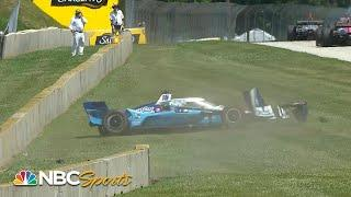 Hunter-Reay, Rahal taken out during IndyCar Grand Prix at Road America Race 2 | Motorsports on NBC