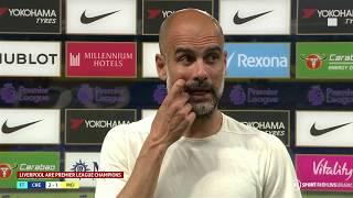Guardiola congratulates Liverpool on being crowned Premier League champions