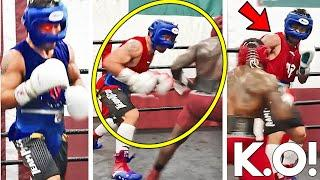 *WOW* MANNY PACQUIAO LEAKED SPARRING IN SERIOUS TRAINING CAMP FOR ERROL SPENCE~UNSEEN PADS HEAVY BAG