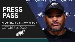 Duce Staley & Matt Burke on Game Prep and More  | Eagles Press Pass