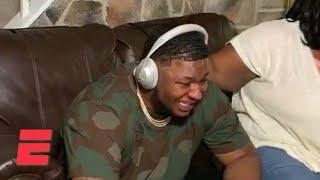 Saints draft selection Cesar Ruiz breaks down crying after getting picked | 2020 NFL Draft