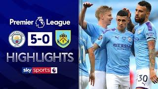 Phil Foden shines as Man City hit FIVE! | Manchester City 5-0 Burnley | Premier League Highlights