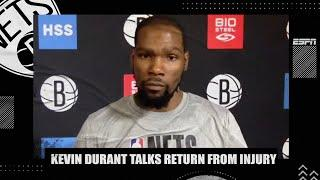 Kevin Durant talks injury rehab, practicing with Kyrie Irving | NBA on ESPN