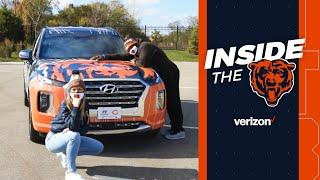 Spice Adams, Lauren Screeden unveil Bears wrapped Hyundai | Chicago Bears