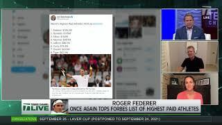 Tennis Channel Live: Federer Tops Forbes List Of Highest Paid Athletes