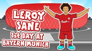 LEROY SANE's 1st Day at Bayern Munich! (Sane signs for FC Bayern Munchen)