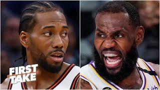 Stephen A. & Max debate LeBron-Kawhi after Lakers vs. Rockets Game 3: Who is the King? | First Take