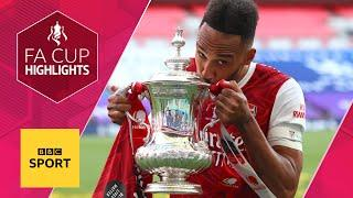 Aubameyang double seals Arsenal FA Cup final victory over Chelsea   FA Cup highlights