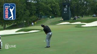Phil Mickelson makes creative par at the Memorial