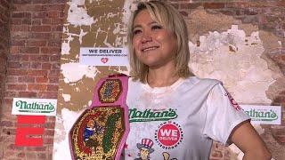 Miki Sudo sets women's record, wins seventh Nathan's Hot Dog Eating Contest | ESPN