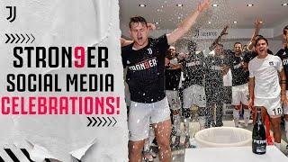 How the Juventus Players Celebrated on Social Media! | #Stron9er