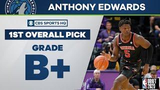 Timberwolves select Anthony Edwards with the 1st overall pick | 2020 NBA Draft | CBS Sports HQ