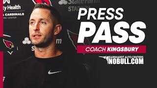 Coach Kingsbury: 'We Still Have Not Hit Our Stride'   Arizona Cardinals