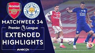 Arsenal v. Leicester City | PREMIER LEAGUE HIGHLIGHTS | 7/7/2020 | NBC Sports
