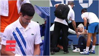 Novak Djokovic out of US Open after hitting judge with tennis ball   2020 US Open Highlights