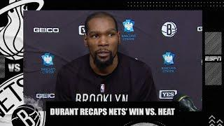 Kevin Durant reacts to Nets' win vs. Heat | NBA on ESPN