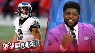 Jalen Hurts did not officially take Carson Wentz's job just yet — Acho | NFL | SPEAK FOR YOURSELF