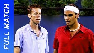 Roger Federer vs Daniel Nestor in his first televised US Open match! | US Open 2000 Round 2