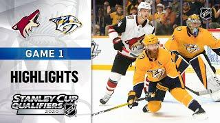 NHL Highlights | Coyotes and Predators, GM1 - Aug. 2, 2020