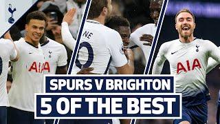 5 OF THE BEST | SPURS BEST HOME GOALS V BRIGHTON | Ft. Aurier, Dele, Kane & Eriksen