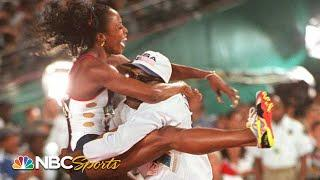 Devers wins back-to-back 100m golds by PHOTO FINISH in 1992 & 1996 Olympics | NBC Sports