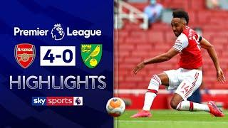 Gunners thrash bottom-placed Canaries | Arsenal 4-0 Norwich | Premier League Highlights
