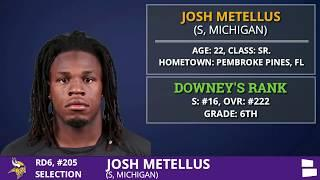Josh Metellus S From Michigan Picked By The Minnesota Vikings In 6th Round of 2020 NFL Draft