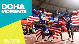 USA Win Men's 4x100m Gold | World Athletics Championships 2019 | Doha Moments