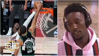 'I couldn't register what happened' - Bam Adebayo reacts to his Jayson Tatum block | SC with SVP