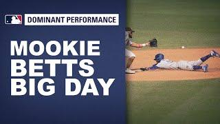 Mookie Betts is a one man wrecking crew! Has big day with bat and legs