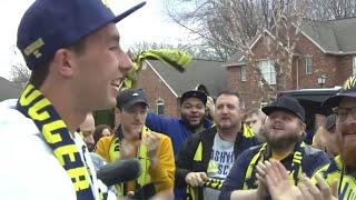 Supporters Drive 300 Miles to Surprise New Player At His Own House!