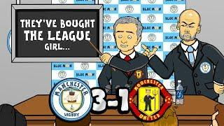 3-1! Man City vs Man Utd! They've bought the league! (Song Parody Goals Highlights)