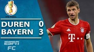 Eric Choupo-Moting and Thomas Muller score as Bayern Munich cruise in DFB Pokal | ESPN FC