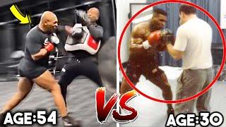 *CRАZY* MIKE TYSON in LOCKER ROOM BEFORE FIGHT- THEN (Age 30) vs NOW (Age 54) *SIDE BY SIDE