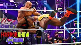 Big E sends Cesaro flying with spear off the apron: The Horror Show at WWE Extreme Rules