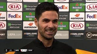 Mikel Arteta delighted as Arsenal react to Leicester loss with Europa League victory over Dundalk
