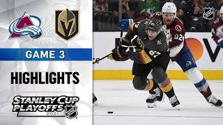 Second Round, Gm3: Avalanche @ Golden Knights 6/4/21 | NHL Highlights