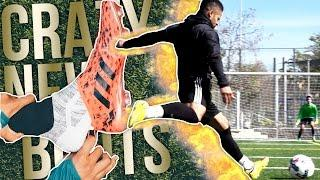 TRYING OUT INSANE NEW GLITCH FOOTBALL BOOTS!