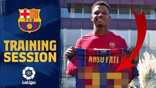 ANSU FATI squad number REVEALED at training