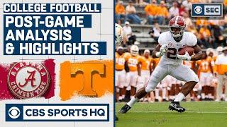 #2 Alabama vs Tennessee: Post Game Analysis & Highlights | CBS Sports HQ